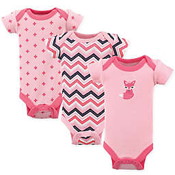 Luvable Friends® Preemie 3-Pack Foxy Short Sleeve Bodysuits