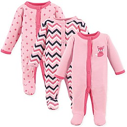 Luvable Friends® Preemie 3-Pack Foxy Sleep & Play Bodysuits
