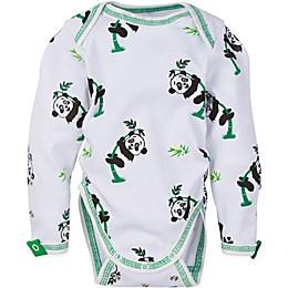 MiracleWear® Snap 'n Grow Long Sleeve Panda Bodysuit in Green