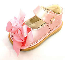 Mooshu Trainers Ready Set Bow Mary Jane Shoe in Rose Gold