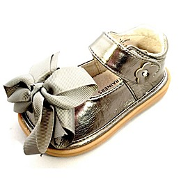 Mooshu Trainers Ready Set Bow Mary Jane Shoe in Pewter