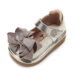 Mooshu Trainers Ready Set Bow Mary Jane Shoe in Silver