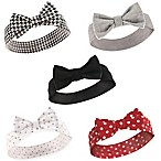 Hudson Baby® Size 0-24M 5-Pack Houndstooth Headbands