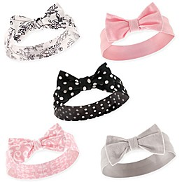 Hudson Baby® Size 0-24M 5-Pack Polka Dot Headbands in Black/Pink/White