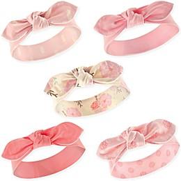Hudson Baby® Size 0-24M 5-Pack Boho Flower Headbands in Flower Pink