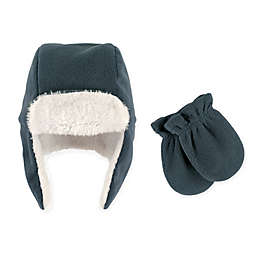 Hudson Baby Size 18-24M 2-Piece Trapper Hat and Mitten Set in Blue