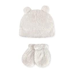 Hudson Baby 2-Piece Sherpa Bear Hat and Mitten Set