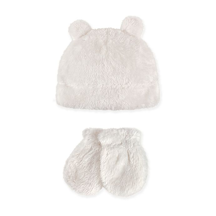 Alternate image 1 for Hudson Baby 2-Piece Sherpa Bear Hat and Mitten Set