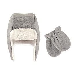 Hudson Baby 2-Piece Trapper Hat and Mitten Set in Grey