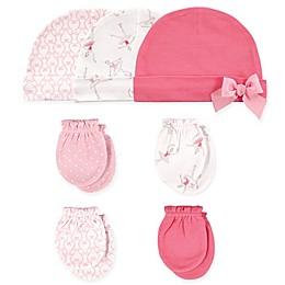 Hudson Baby® 7-Piece Ballet Cap and Mitten Set in Blossom Pink