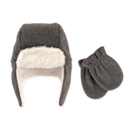 Hudson Baby 174 2 Piece Trapper Hat And Mitten Set In