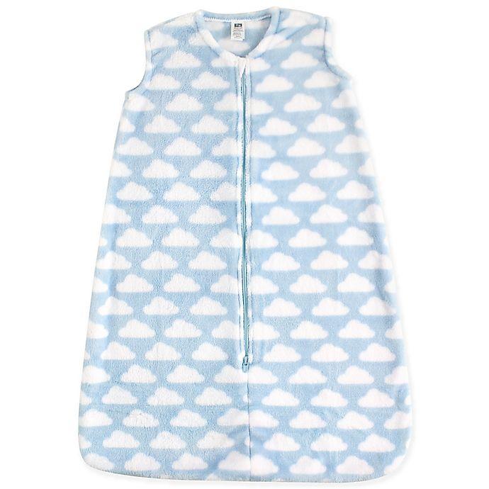 Alternate image 1 for Hudson Baby® Plush Sleeping Bag in Sky Blue