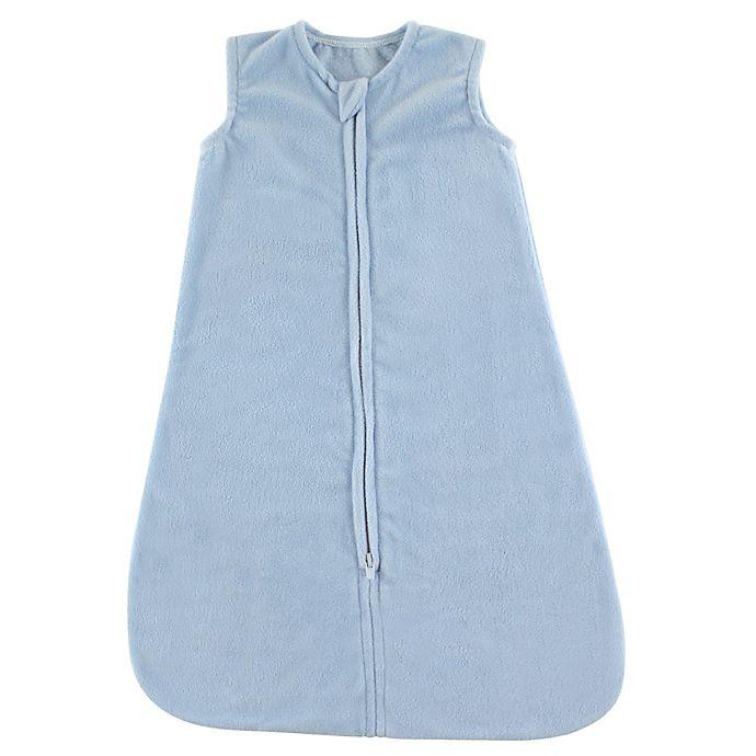 Alternate image 1 for Hudson Baby® Fleece Sleeping Bag in Light Blue