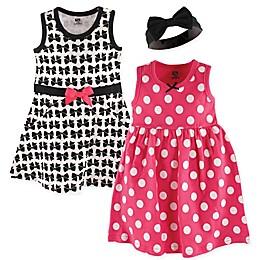 Hudson Baby® 3-Piece Bows Dress and Headband Set