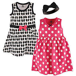Hudson Baby® 3-Piece Bows Dress and Headband Set
