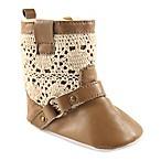 Luvable Friends® Size 0-6M Crochet Lace Boot in Tan