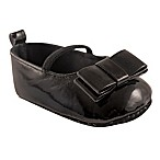 Luvable Friends® Size 6-12M Patent Leather Mary Jane Flat in Black