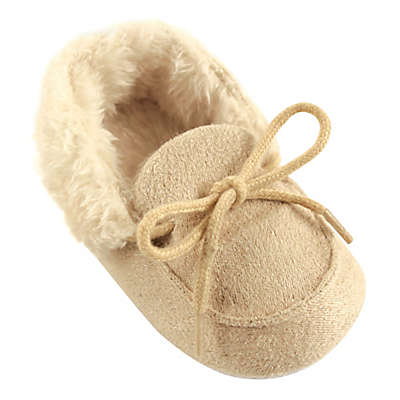 Luvable Friends® Cozy Moccasin Slipper in Beige
