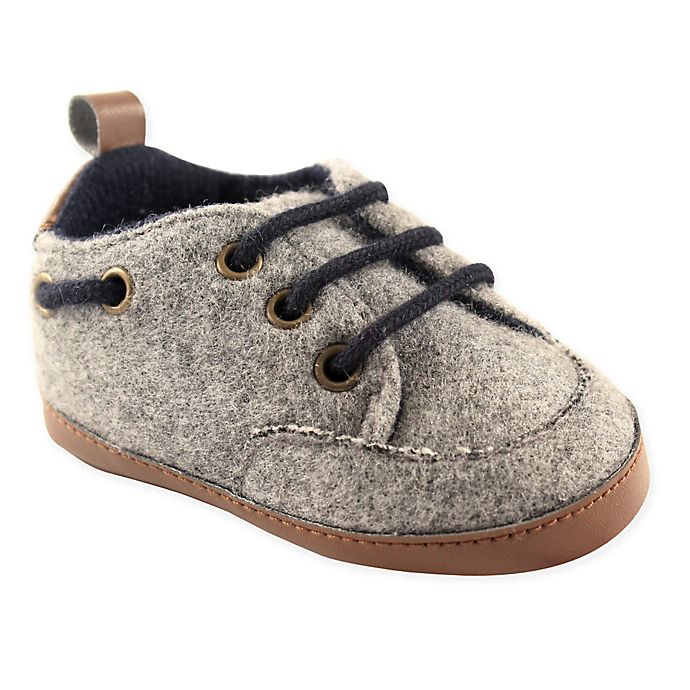 Alternate image 1 for Luvable Friends® Wooly Sneaker in Grey