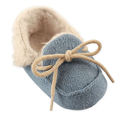 Luvable Friends® Cozy Moccasin Slipper in Blue