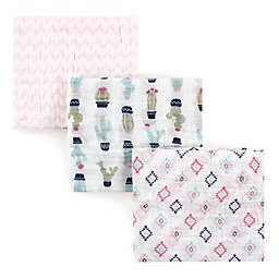 Hudson Baby® 3-Pack Cactus Muslin Swaddle Blankets