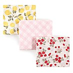 Hudson Baby® 3-Pack Fruit Muslin Cotton Swaddle Blankets