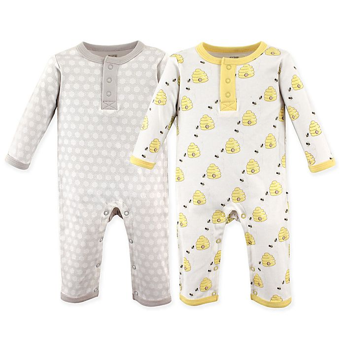 Alternate image 1 for Hudson Baby® 2-Pack Bumble Bees Union Suits
