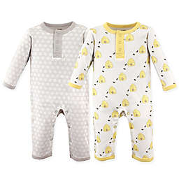 Hudson Baby® 2-Pack Bumble Bees Union Suits