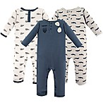 Hudson Baby® Size 0-3M 3-Pack Aviator Long Sleeve Union Suits