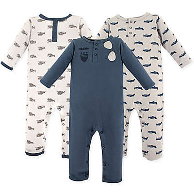 Hudson Baby® 3-Pack Aviator Long Sleeve Union Suits