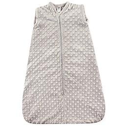 Hudson Baby® Dotted Plush Sleeping Bag in Grey