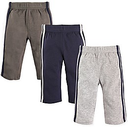 Hudson Baby® 3-Pack Athletic Pants in Blue/Grey
