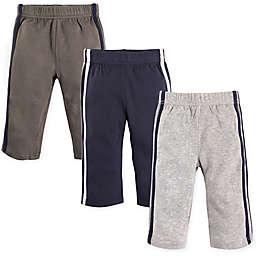 Hudson Baby® 3-Pack Athletic Pants in Blue/Grey