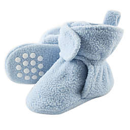 Luvable Friends® Size 6-12M Scooties Fleece Booties in Light Blue