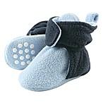 Luvable Friends® Size 0-6M Scooties Fleece Booties in Light Blue/Navy
