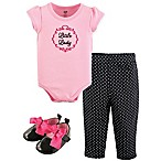 Luvable Friends® Preemie 4-Piece  Little Lady  Bodysuit, Pant, Shirt and Cap Set In Pink