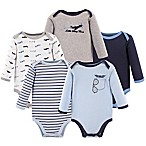 Luvable Friends® Size 3-6M 5-Pack Airplane Long Sleeve Bodysuits