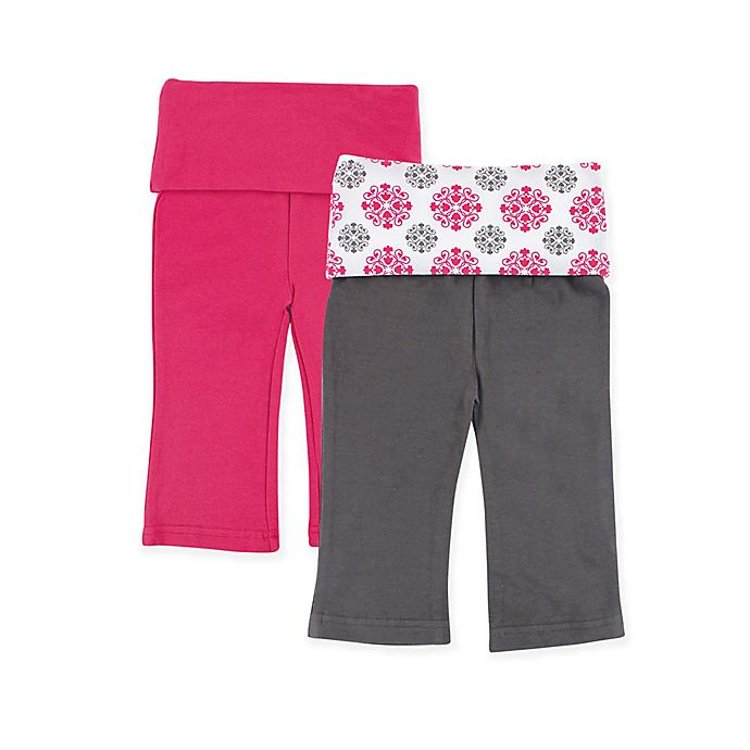 Alternate image 1 for Yoga Sprout 2-Pack Medallion Print Yoga Pants in Pink