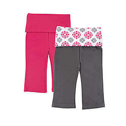 Yoga Sprout 2-Pack Medallion Print Yoga Pants in Pink