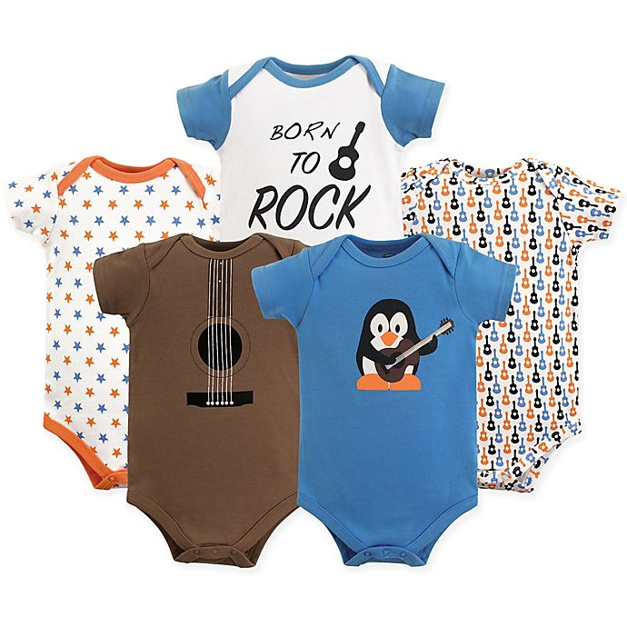 9fadd2dfd51 Luvable Friends Size 12-18M 5-Pack Guitar Short Sleeve Bodysuits