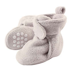 Luvable Friends® Scooties Fleece Booties in Light Grey