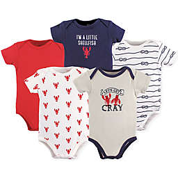 Hudson Baby® 5-Pack Cray Short-Sleeved Bodysuits