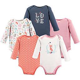Hudson Baby® 5-Pack Woodland Fox Long Sleeve Bodysuits