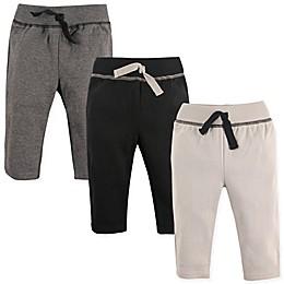 Hudson Baby® 3-Pack Track Pants in Black/Grey
