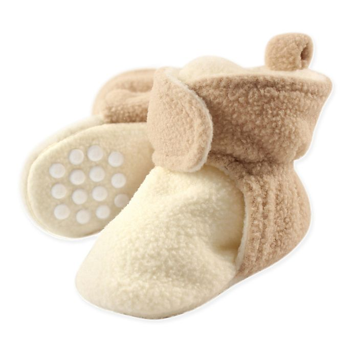 Alternate image 1 for Luvable Friends™ Scooties Fleece Booties in Cream/Tan