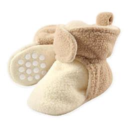 Luvable Friends™ Scooties Fleece Booties in Cream/Tan