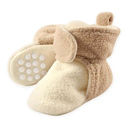 Luvable Friends™ Size 2T Scooties Fleece Booties in Cream/Tan