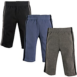 Hudson Baby® 3-Pack Athletic Pants in Black