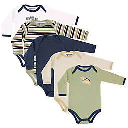 Luvable Friends® Size 18-24M 5-Pack Dinosaur Long Sleeve Bodysuits