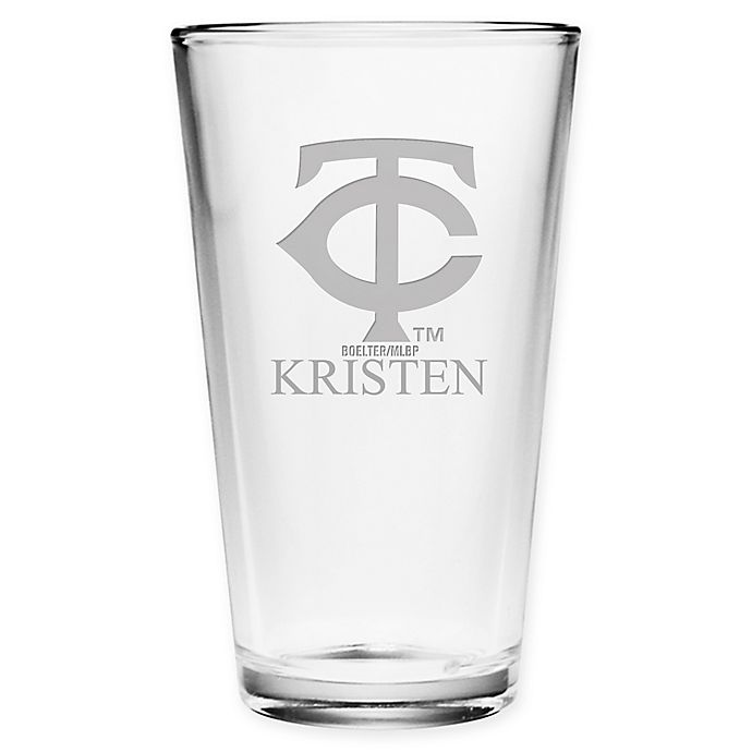 Alternate image 1 for MLB Minnesota Twins Deep Etch Pint Glass
